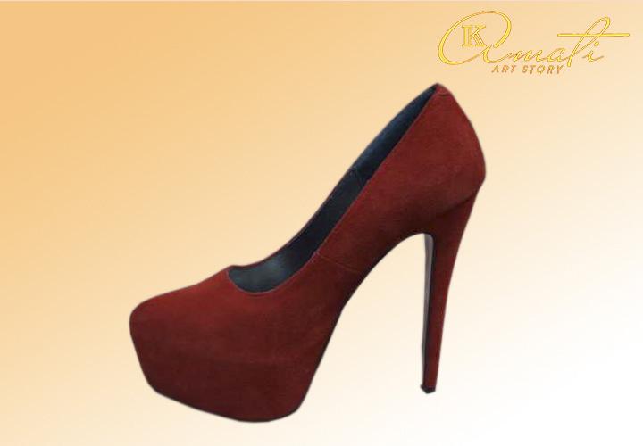 Туфли женские Лобутены (красные) E 95