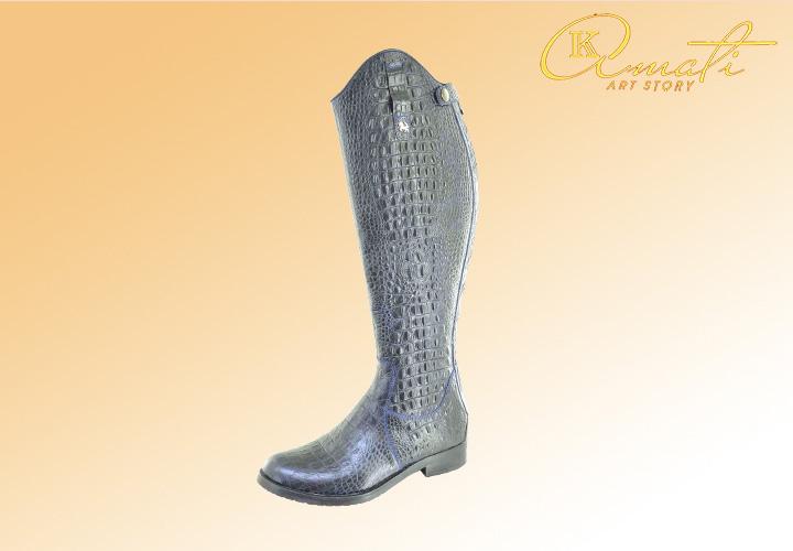 Модные женские сапожки под кожу крокодила 2522