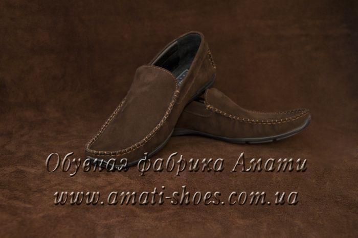 Туфли мужские (мокасины, коричневые ) 101