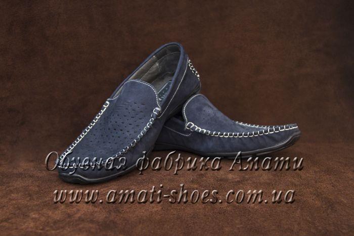 Туфли мужские (мокасины, черные) 104