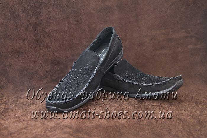 Туфли мужские (мокасины, черные) 105