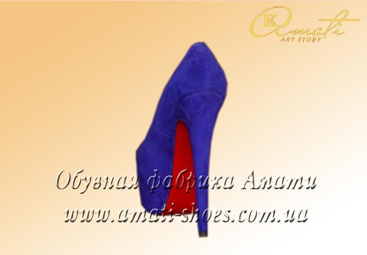 Туфли женские Лобутены (синие) E 95