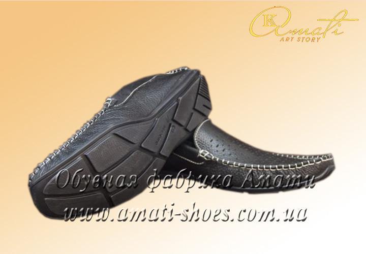 Туфли мужские (мокасины, черные) 103